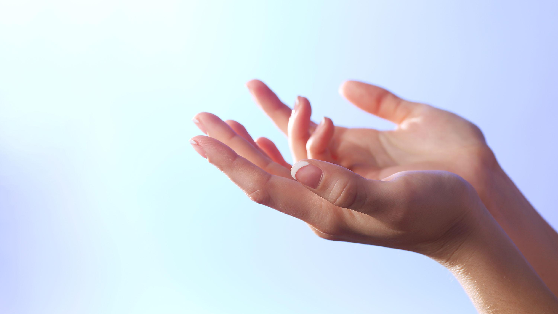 Open Hands in meditation