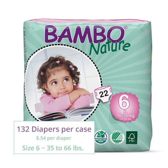 Bambo Diapers XL Size 6
