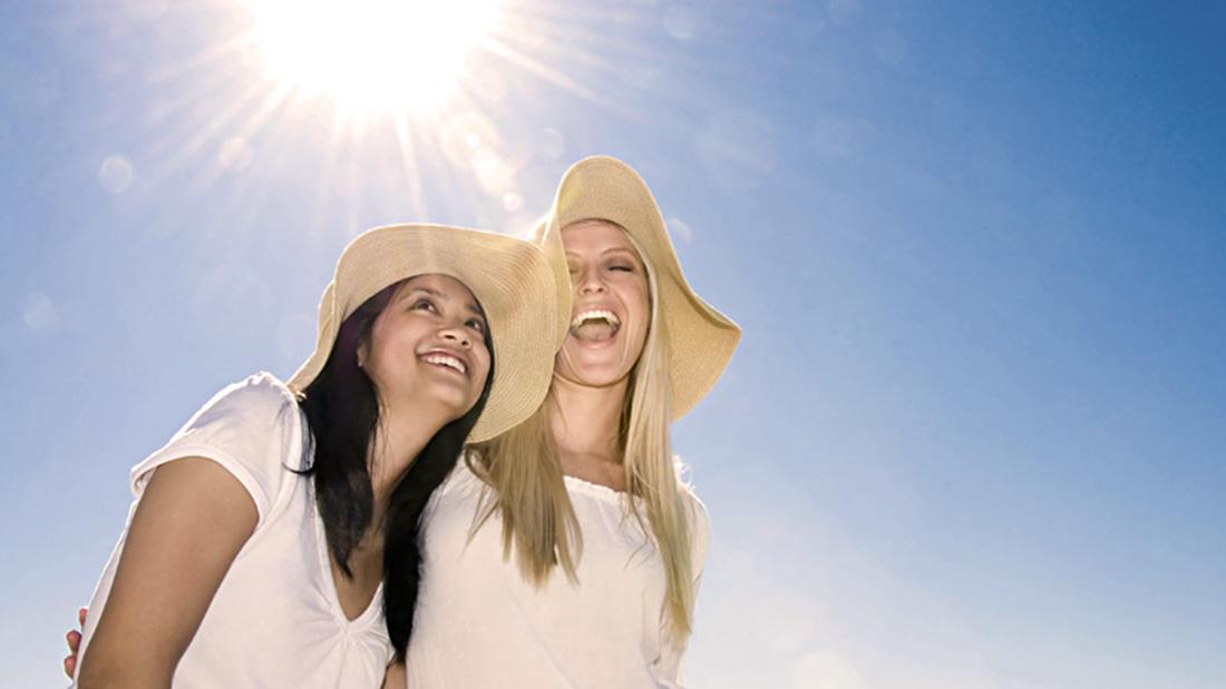 Women in sunshine
