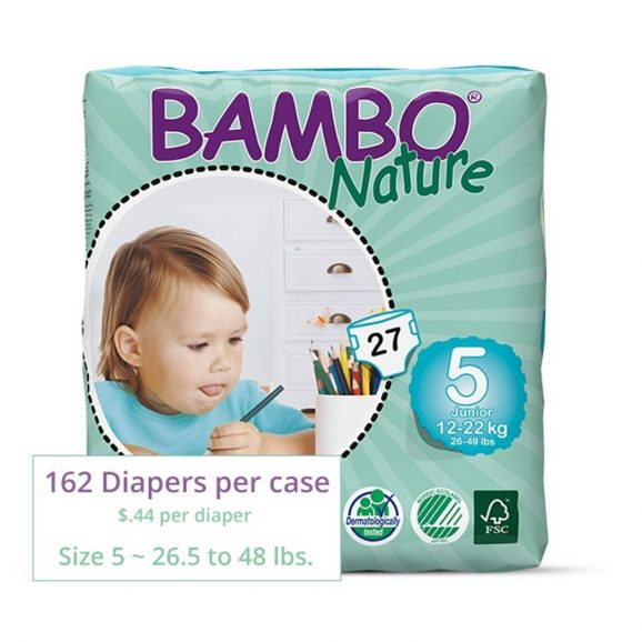Bambo Diapers Junior Size 5