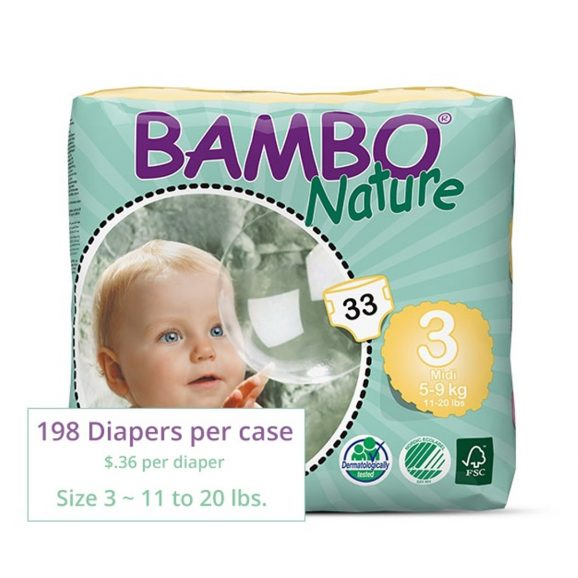Bambo Diapers Midi Size 3